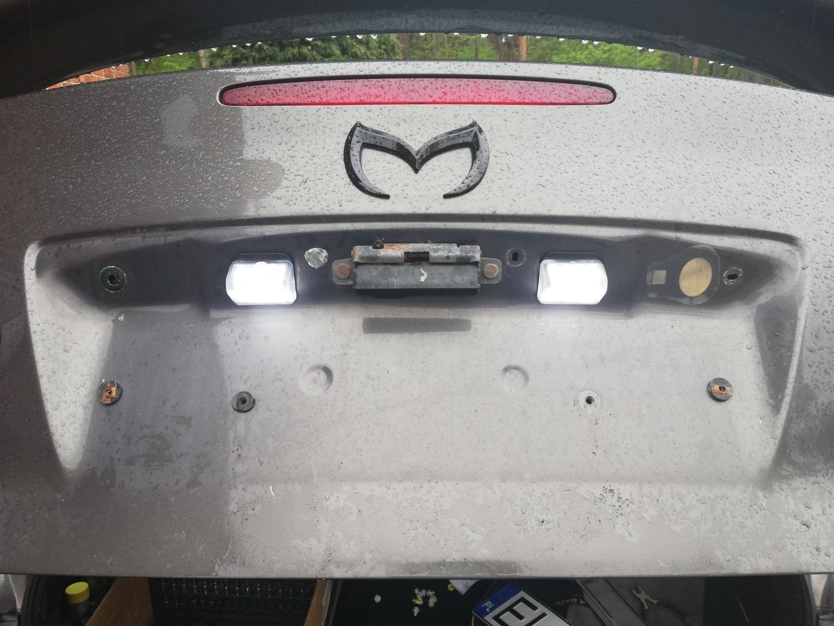 Mazda 6 Forum Wymiana Oświetlenia Tablicy Rejestracyjnej