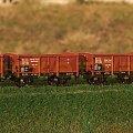 Kolekcja wagonów typu Schwerin w oznakowaniu kolei Górny Śląsk z lat trzydziestych XX wieku. #PKP H0 #Schwerin #GórnyŚląsk