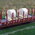 Model wagonu towarowego platformy kłonicowej P.K.P. w skali 1:87 H0. Epoka II. #PKP #wagon #platforma
