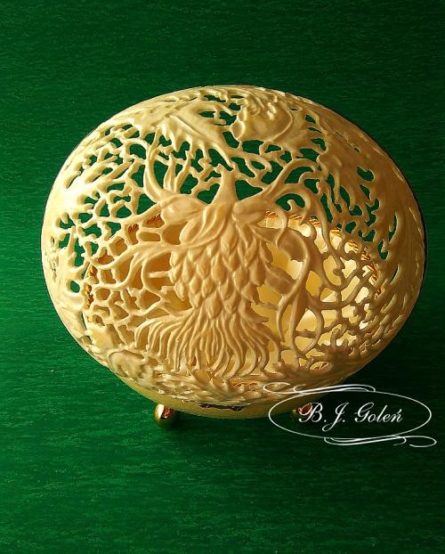 #ażurowe#strusie#jajko #rzeźbione #prezent #alicji#ażurowe