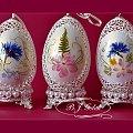 Ażurowe pisanki - gęsie jajka i suszone kwiaty Openwork Easter eggs - goose eggs and dried flowers - autor - Bogusława Justyna Goleń - Poland #pisanki #ażurowepisank #gęsiejajk #wIELKANOC #WIELKANOCNYKOSZYCZEK #polnekwiaty