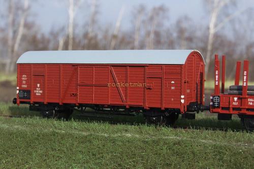 Wagon kryty zarządzu kolei PKP typu Dresden noszego oraz z otwieranymi scianami czołowymi serii Kdsto. Epoka III. Skala 1:87 H0 #Wagon #kryty #Dresden #Kdsto H0 #PKP