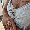Ręcznie zrobiony pierścionek z bursztynem - silverum.com.pl #pierścionki #owady #pszczoła #bursztyn #oryginalny #prezent